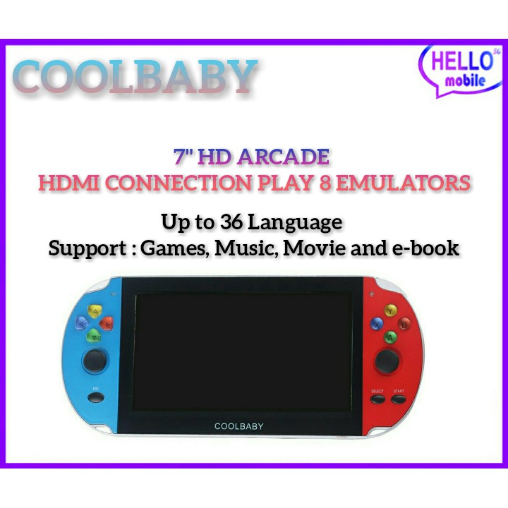 Coolbaby RS-10 7 Inch Handheld Game Built-in 1000++ Classic Game