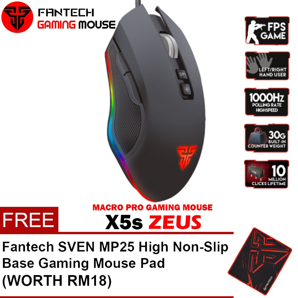 Fantech Premium Gamer Package with Keyboard, Mice, Headset,Mouse Pad and Speaker | Shopee Malaysia