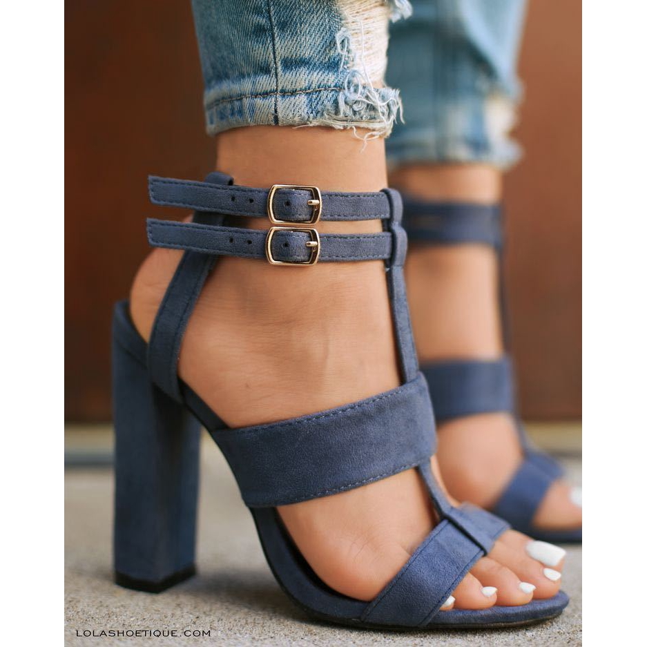45676b048ba New European and American hollow sandals with bare buckles for thick heels  and high heels in 2019