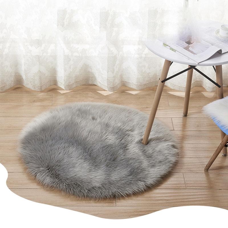 Prime Soft Faux Fur Rug Household Bedroom Warm Mat Sofa Chair Pad Round Carpet 30Cm Creativecarmelina Interior Chair Design Creativecarmelinacom