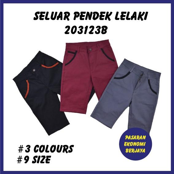SELUAR PENDEK LELAKI 203123B / CASUAL SHORTS/ SHORT PANTS/ SELUAR PENDEK LELAKI/ MEN'S CASUAL PANTS/ SELUAR COTTON
