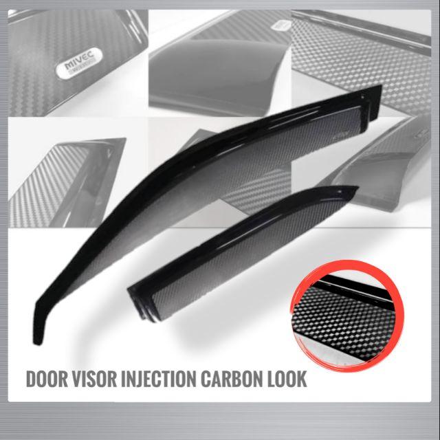 Door Visor Injection Carbon Look For Perodua Alza Old Myvi Viva Kancil
