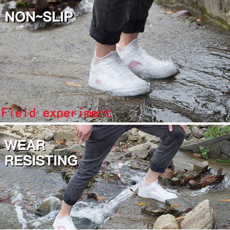 Waterproof Shoes Cover Silicone Non-Slip Men Rain Boots Shoes Protectors S M L