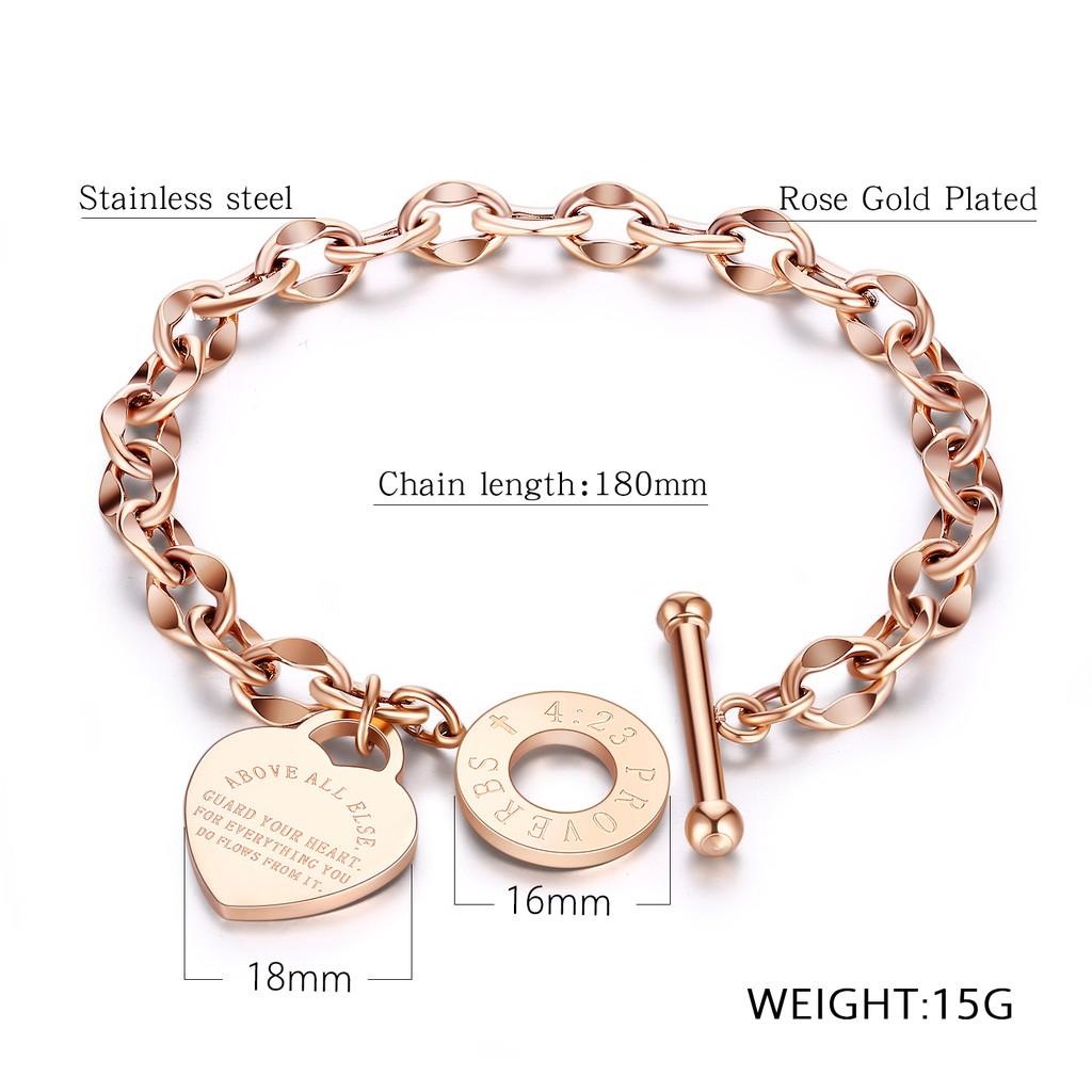104d9a6e5984e Lady Heart Hollow Bracelet Luxurious T buckle Bangle Tassel LOVE Wristband