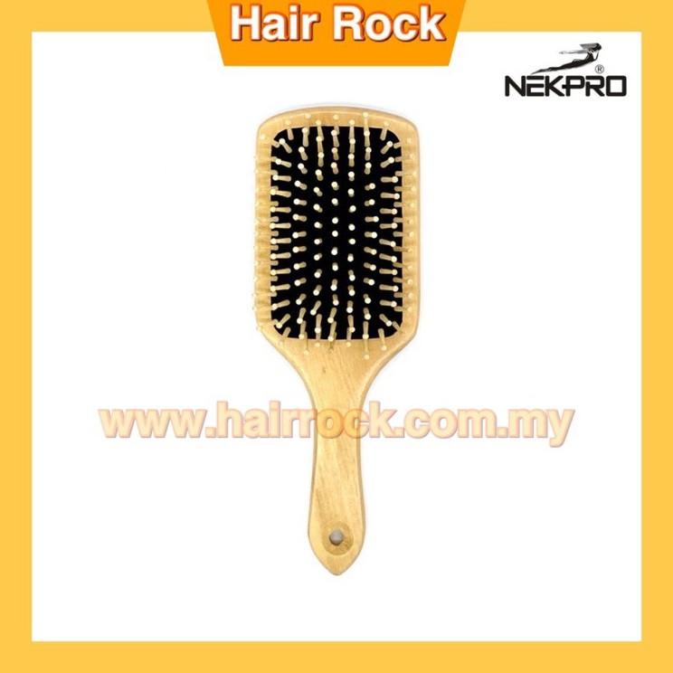 NEK PRO Wood Handle + Lotus Wood's Teeth Massage Comb
