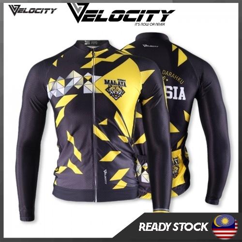 Velocity Malaysia Long Cycling Jersey Harimau Malaya