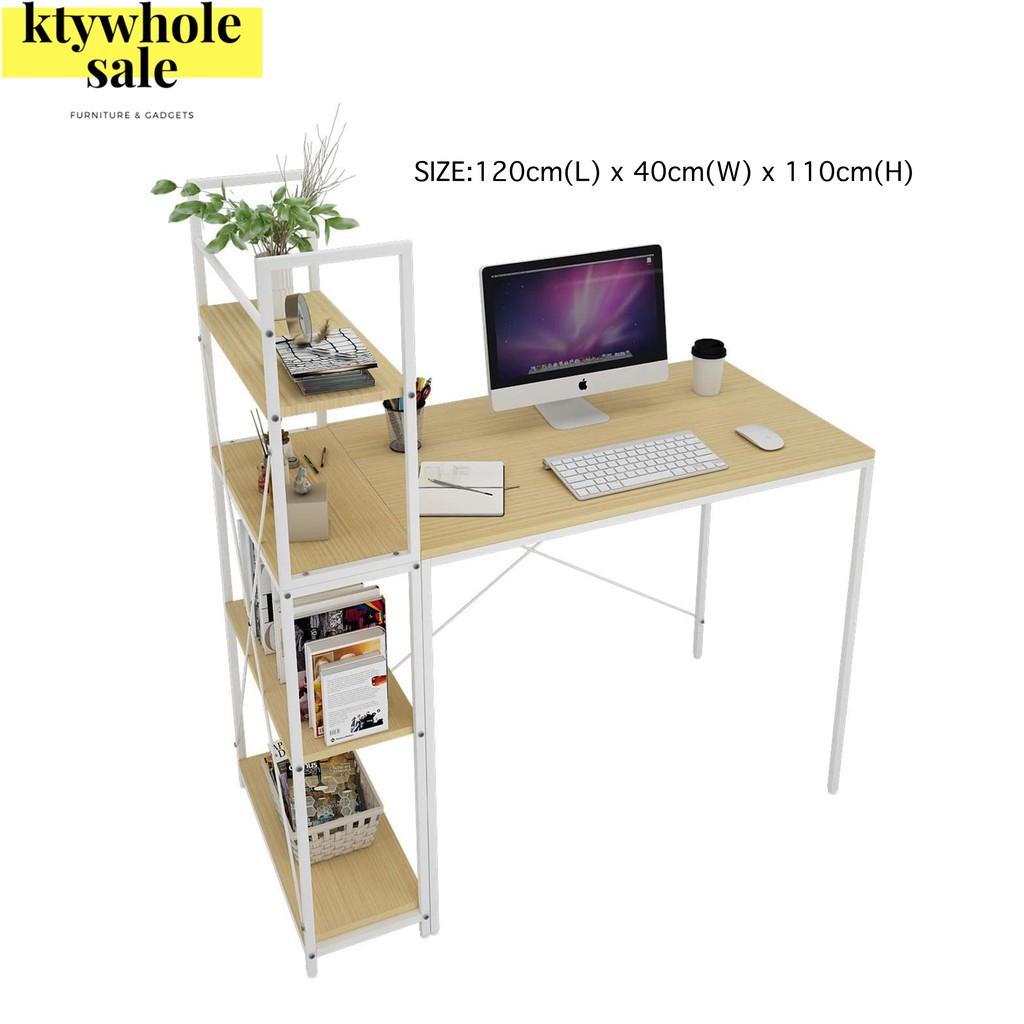 KTY Quality Multipurpose Writing And Dekstop Table Meja Tulis Meja Komputer dengan Rak Meja Komputer