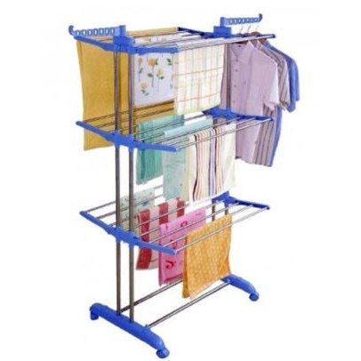 💥Multifunctional 3 Layer Clothes Hanger Drying Rack Foldable Laundry💥
