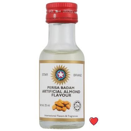 Star Brand Artificial Almond Flavour / Perisa Badam @ 25ml ( Free fragile + bubblewrap packing )