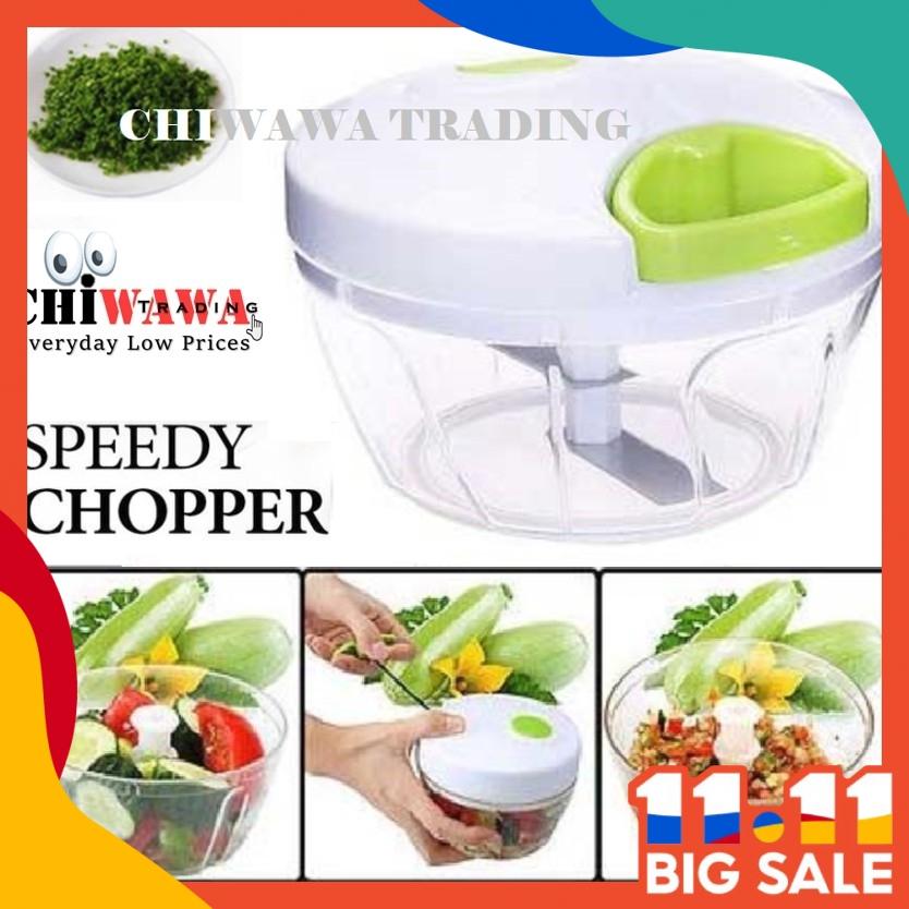 【3 Blade】CAPSULE CUTTER Speedy Food Chopper Blender Grinder Cutter Mixer Mincer Masher Shredder Juicer Pengisar Pengadun