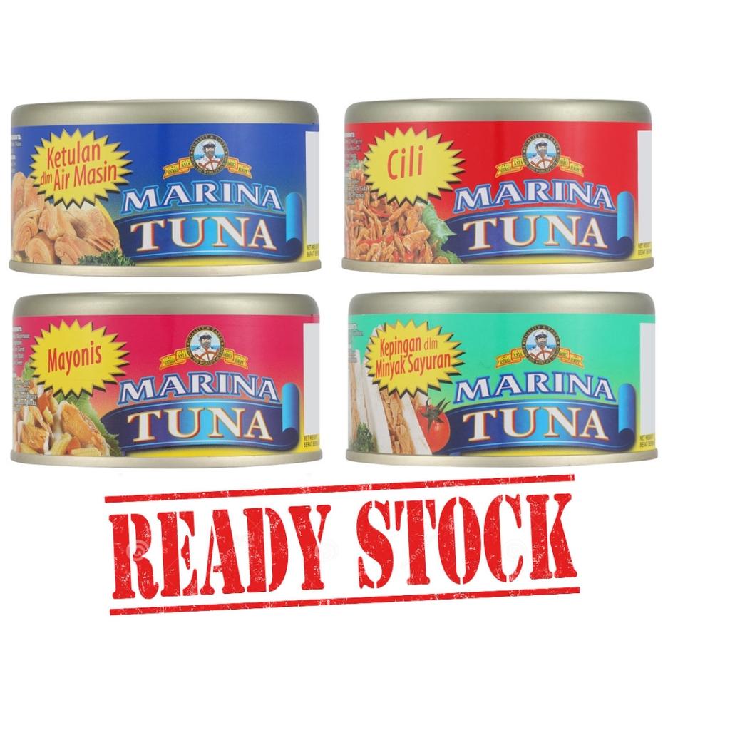EXP 2023 Marina Tuna Chunks in Brine/Chunks in Vegetable Oil/Mayonnaise/Chilli (185g)