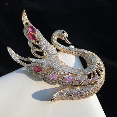 Elegance Swan Brooch 新品甜美优雅气质个性天鹅胸针