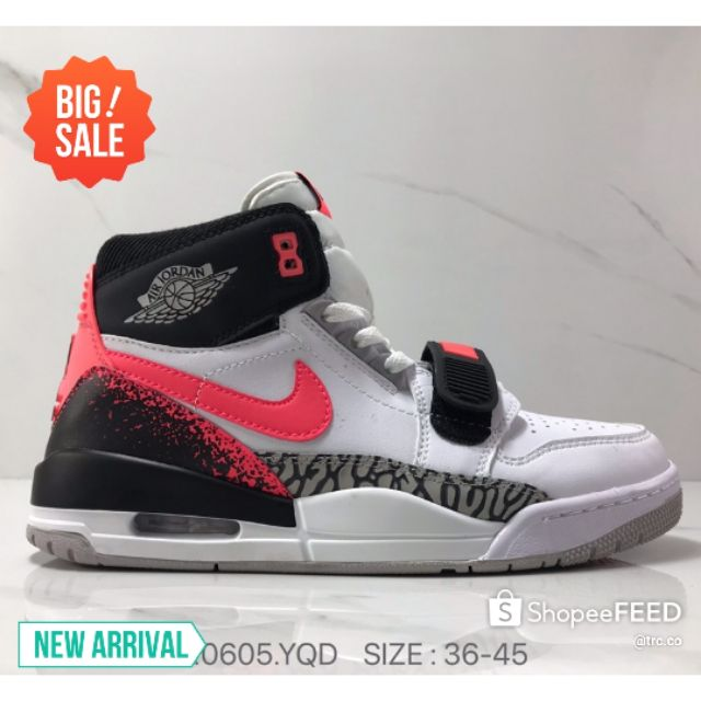 💥PREMIUM💥KASUT NIKE AIR JORDAN LEGACY 312 NRG PURE WHITE HIGH TOP CASUAL SNEAKERS FASHION 976.0605.YQD