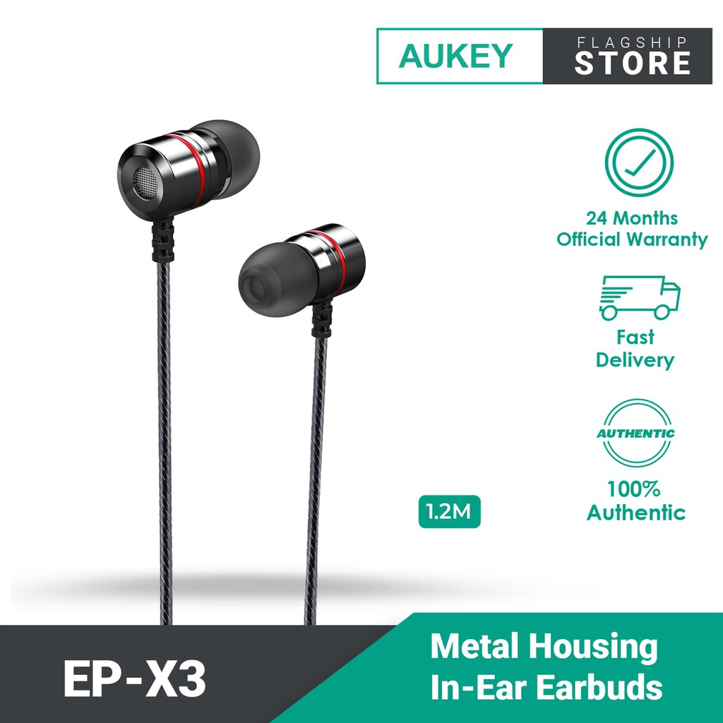 Aukey EP-X3 Metal Housing In-Ear Earbuds