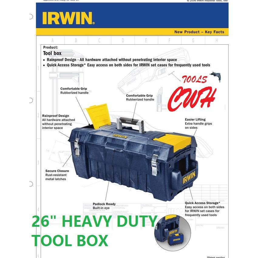 """10503817 26"""" IRWIN PRO STRUCTURAL FOAM TOOLBOX STORAGE TOOLS BOX ORGANISER"""