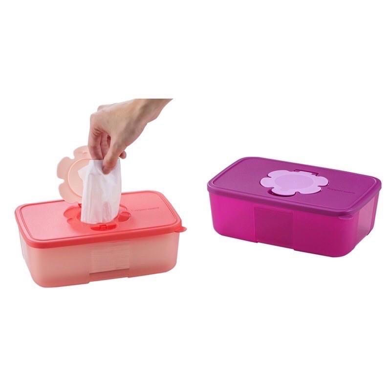 Tupperware Tissue Box 1pc coral purple all type of tissue Ready Stock