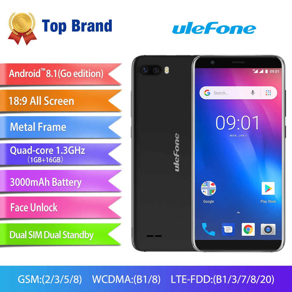 Ulefone S1 Pro Mobile Phone Android 8 1 5 5 inch 18:9 13MP+5MP Rear Dual  Camera