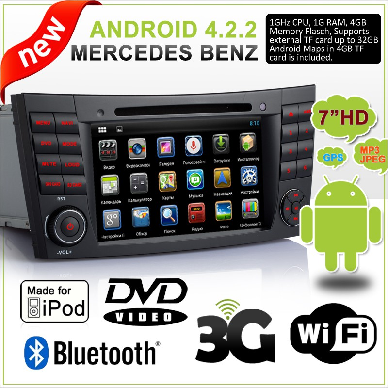 Benz W211 Android DVD Payer (CLEAR STOCK/FREE CAMERA)