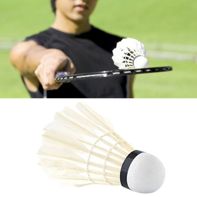 2pcs Feather Shuttlecook Bulu Tangkis Badminton Training Badminton Shuttlecocks