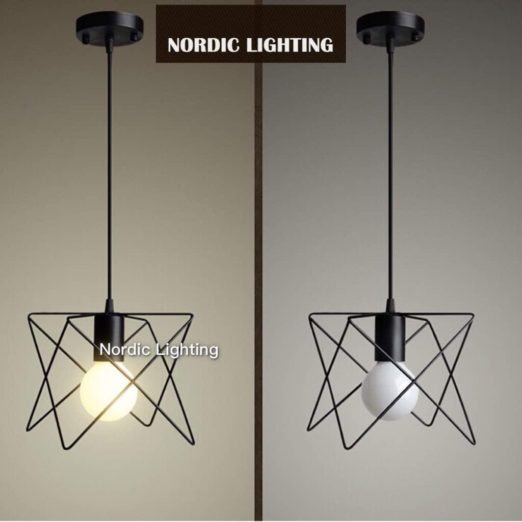 Single Pendant Modern Star Loft Pendant Light Nordic Lighting Lampu Hiasan Designer Decorative Ikea Style Ceiling Lighti Shopee Malaysia