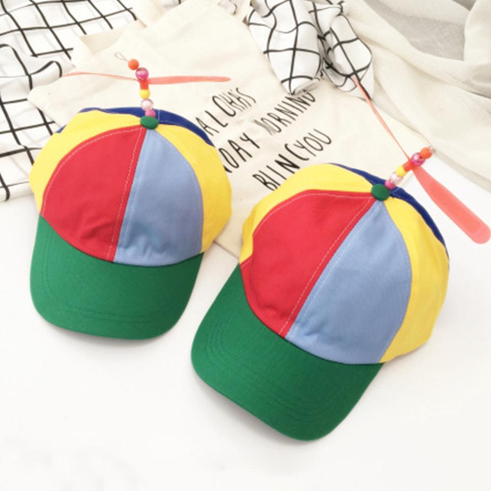 5ae78c8fe Small Size Helicopter Propeller Baseball Caps Patchwork Children ...