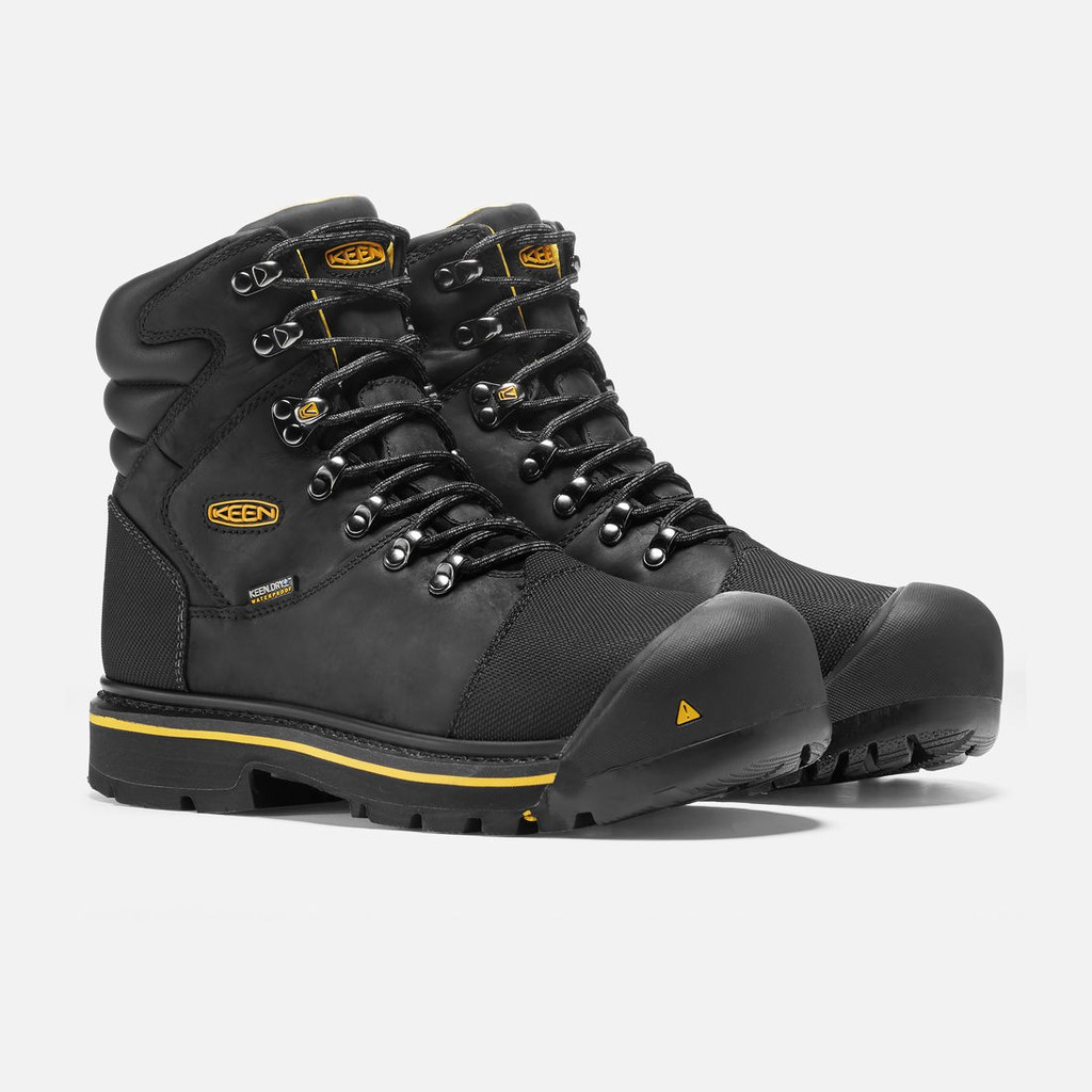 a2d5d22d22b KEEN UTILITY MEN'S MILWAUKEE WATERPROOF STEEL TOE BLACK 1009173