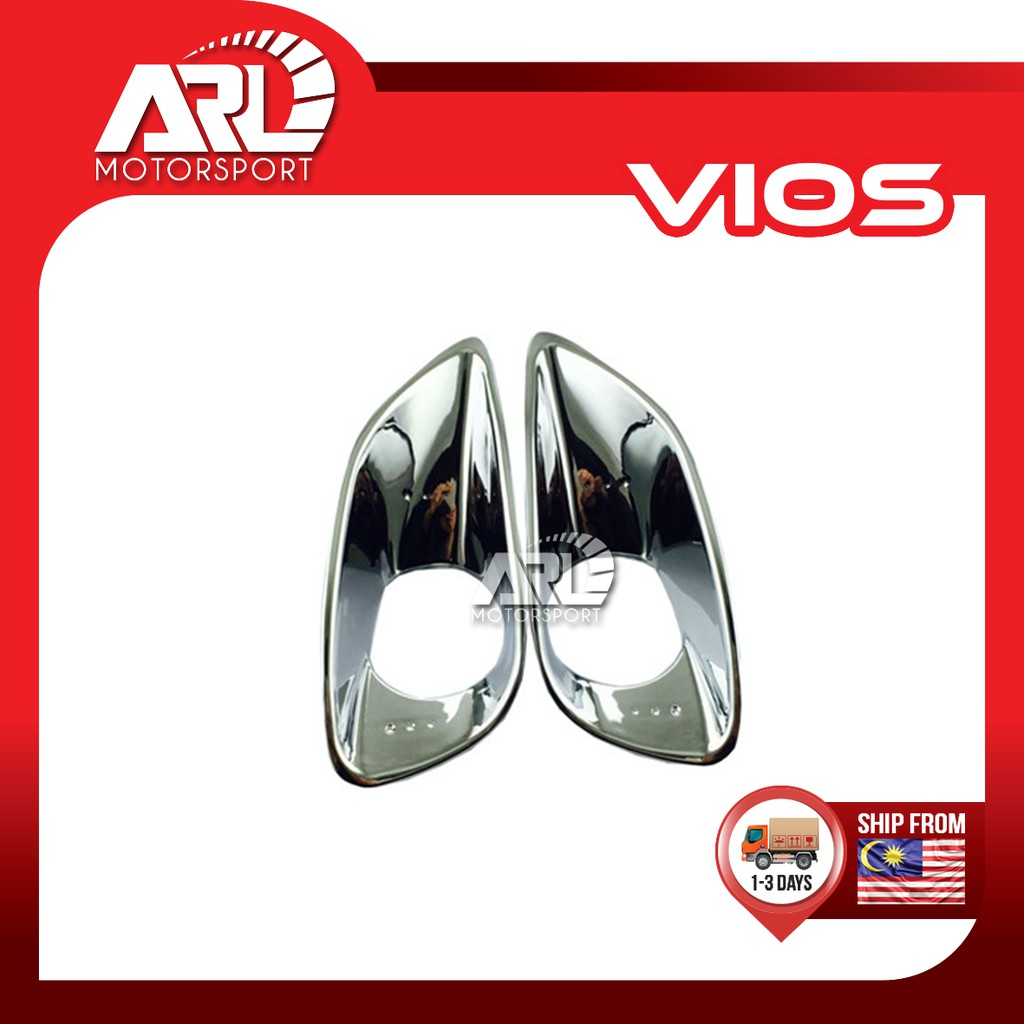 Toyota Vios (2007-2012) NCP93 Belta Fog Light Lamp Cover Chrome Car Auto Acccessories ARL Motorsport