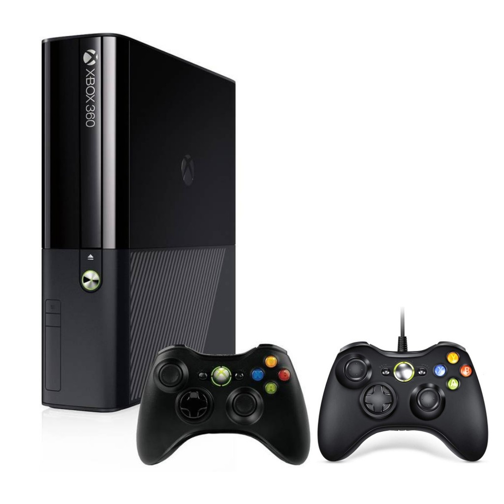 XBOX 360 SLIM GO REFURBISHED CONSOLE + 1 TB EXTERNAL HARDISC (100 GAME) + TWO CONTROLLER