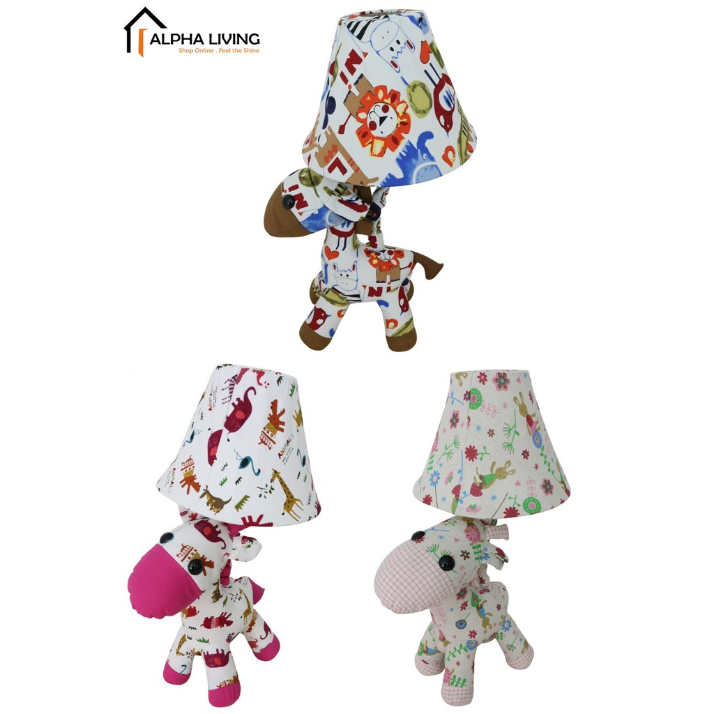 Cottage Lovely Creative Cartoon Fabric Cow Led Table Lamp (LGT0010)