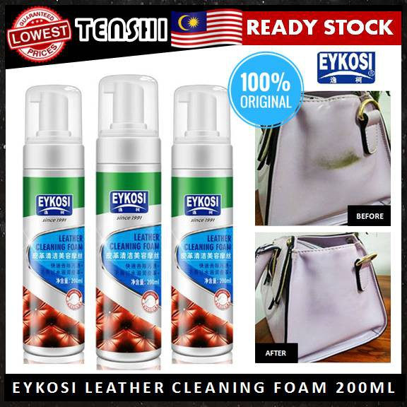 Eykosi Leather Cleaning Foam (200ml) Car Seat / Bag / Shoe Leather Cleaner  Spray
