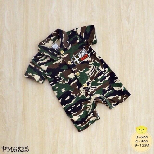 ชุดทหาร ชุดเด็ก ชุดเด็กลายทหาร บอดี้สูทลายทหาร รอมเปอร์ลายทหาร เสื้อเด็ก เสื้อเด็กลายทหาร ชุดหมีลา