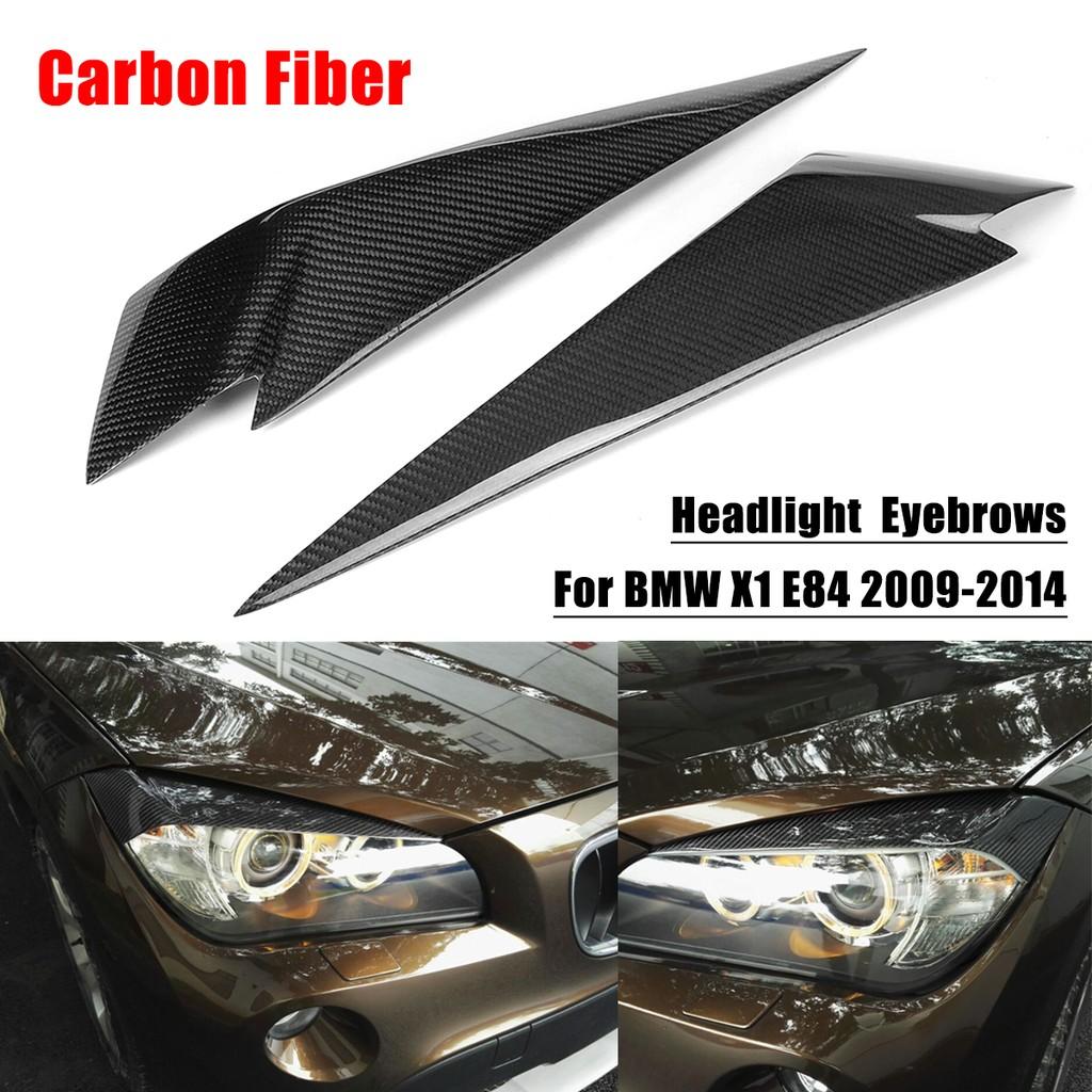 Carbon Fiber Headlight Eye Lid Cover Eyebrows For 2014 18 Bmw F80 M3