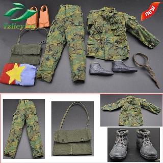 """2PCS 1//6 Scale Desert Camouflage Boonie Hat Cap Uniform for 12/"""" Action Figure"""