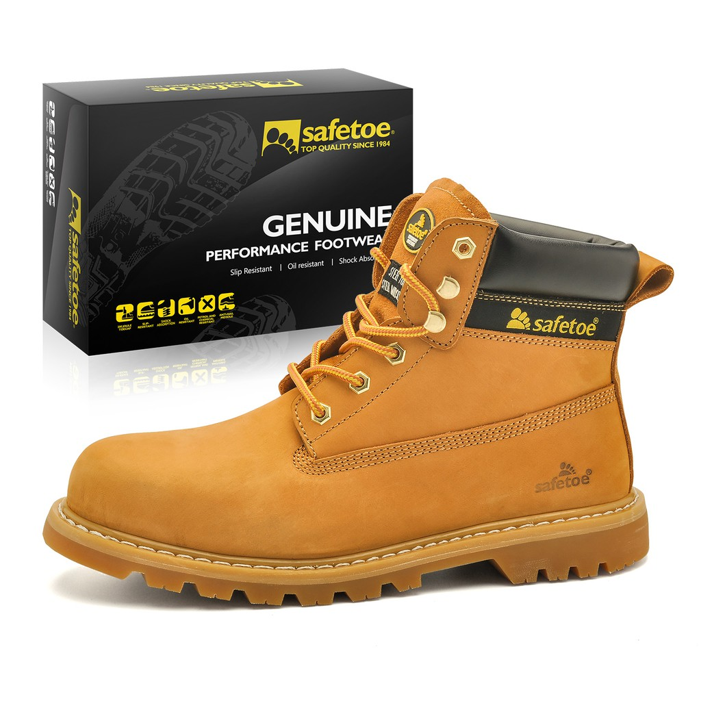 20f653e79886 Safety Shoes fashion for Man Steel Toe - SAFETOE 7296 Yellow Work Shoes