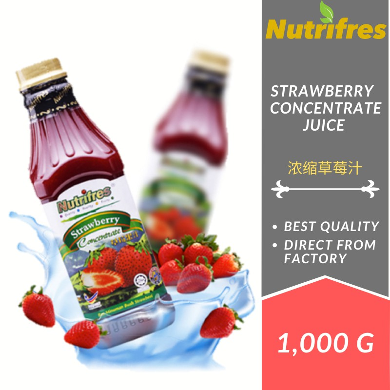 Nutrifres Strawberry Fruit Juice Concentrate / Cordial (1 Liter)