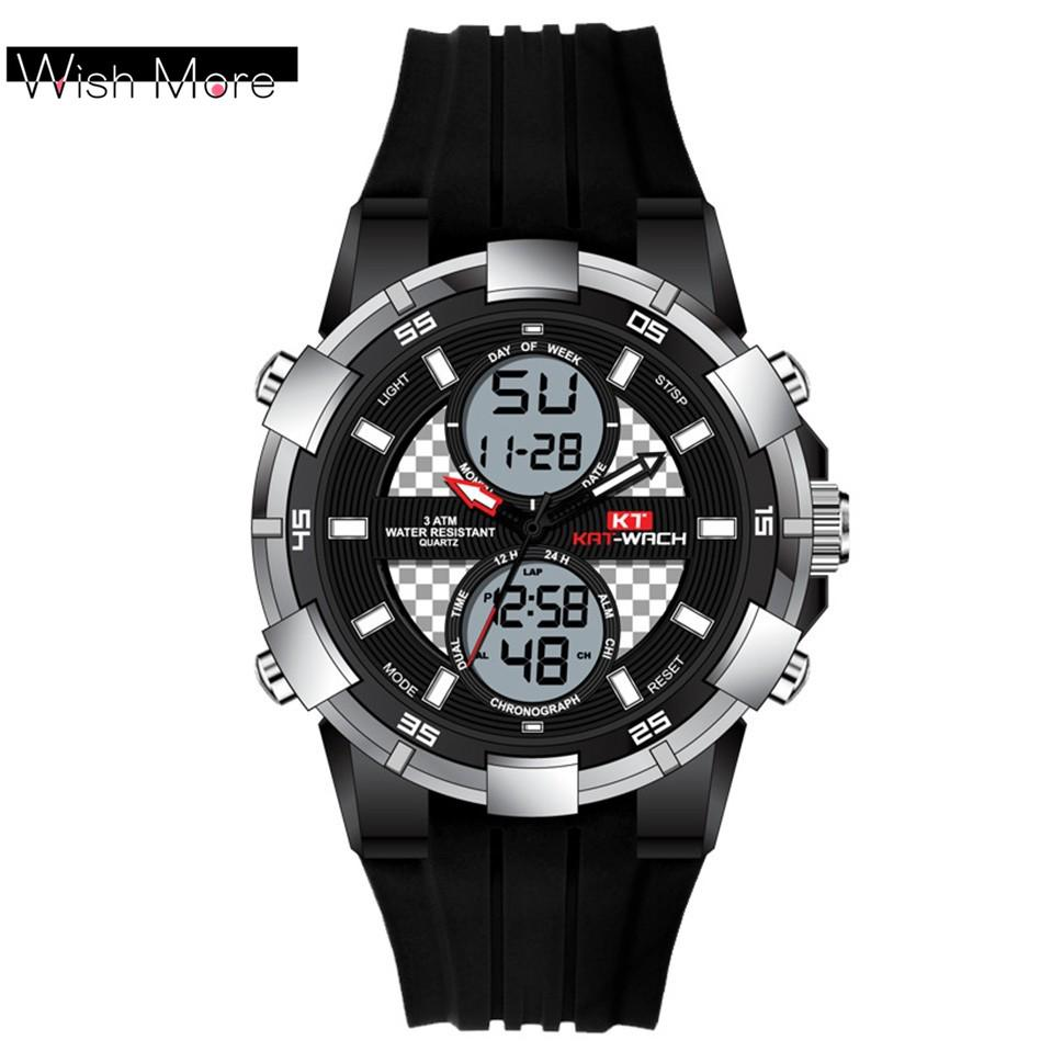 0ed0b0c32 KAT-WACH 30m Water Resistance Mens Sports Watch Causal Military Wristwatch  With LED Backlight | Shopee Malaysia