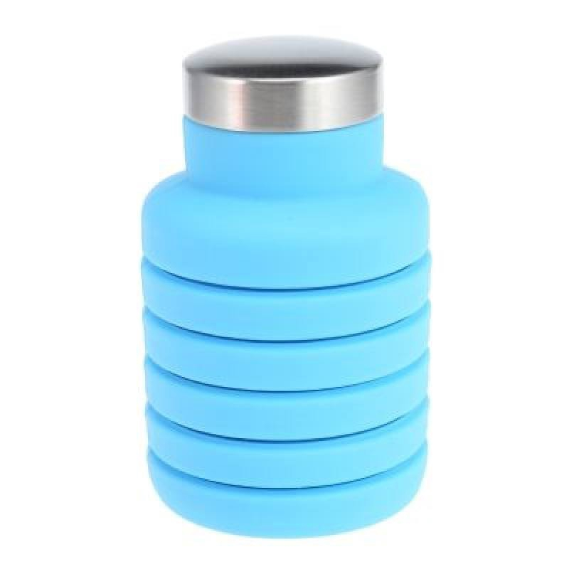 Outdoor Sport Silicone Folding Water Bottle (SKY BLUE)