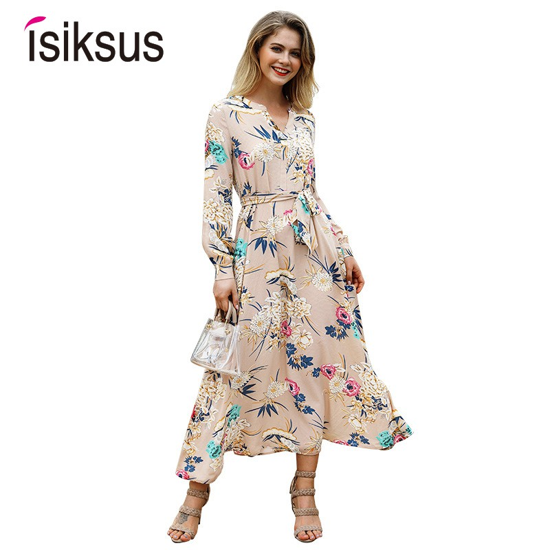 e4e6f63bce New chiffon long dress beach women's white sexy floral chiffon casual  elegant | Shopee Malaysia