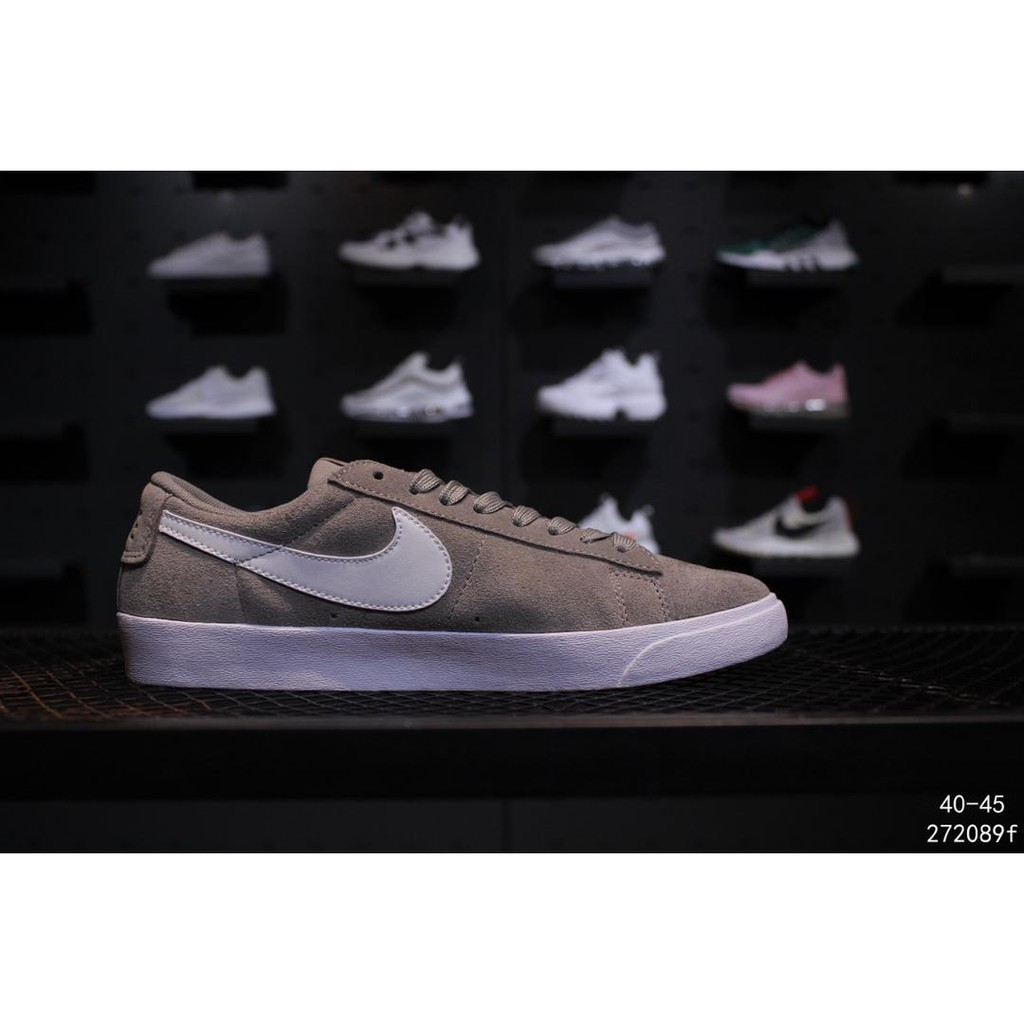 online store 95d5a 94bed NIKE W BLAZER LOW SD grey men shoes hot sale sneakers EU40-45