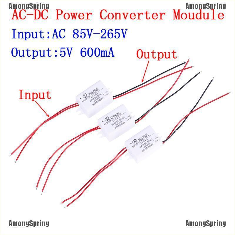 DC 12V 5V 250mA Isolated Step Down Buck Converter Power Supply Module AC 85-265V