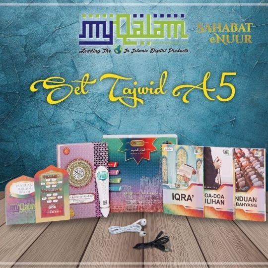 My Qalam Tajwid A5 Wakaf Ibtida Al Quran Digital  Combo Set Terjemahan Audio dan Tajwid Mengaji Read Pen EMMEMARINA