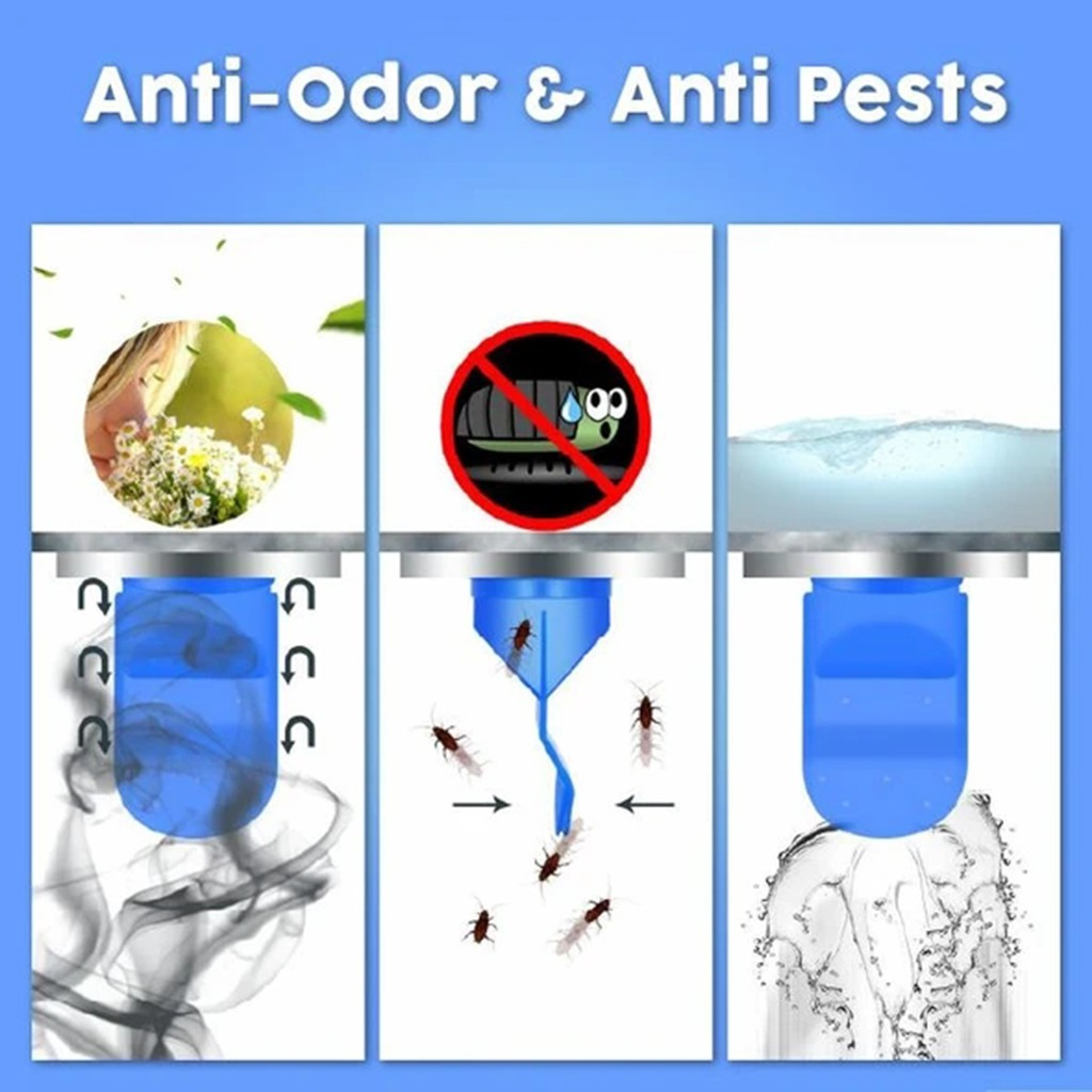 Details about  /Deodorant Silicone Core Sewer Pipe Seal Ring Tools Sewer Deodorant Sealing Ring