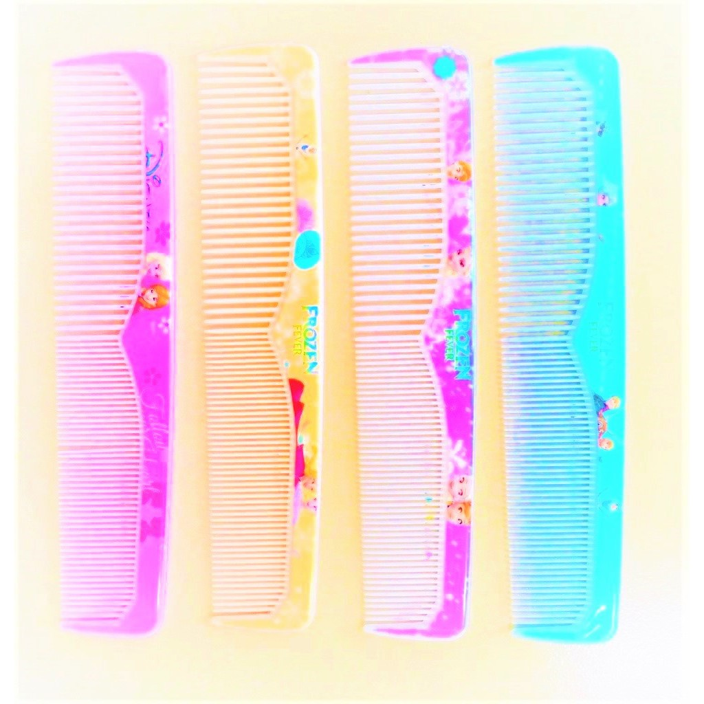 Comb Frozen Design Printed Wide & Thin Toothed Hairdressing Comb Flat Stylist Professional Comb