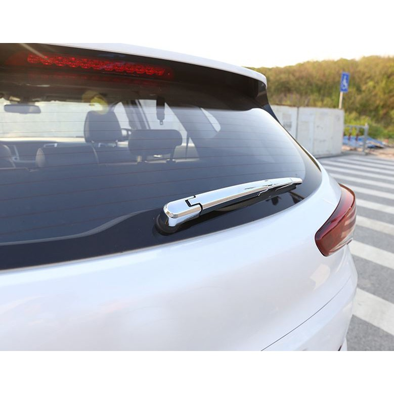 Chrome Rear Window Rain Wiper Blade Cover Trim fit for Hyundai Tucson 2016 to 19