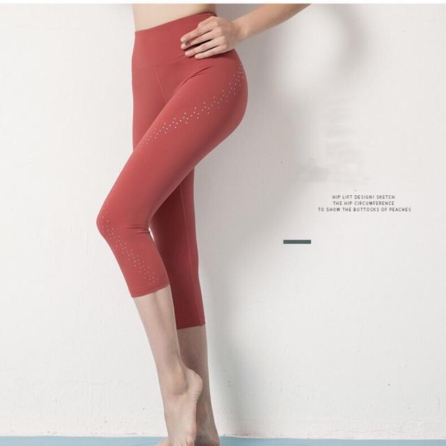 Womens Fitness Capri Leggings Cycling Running Gym Sport Yoga 3//4 Pants Trousers