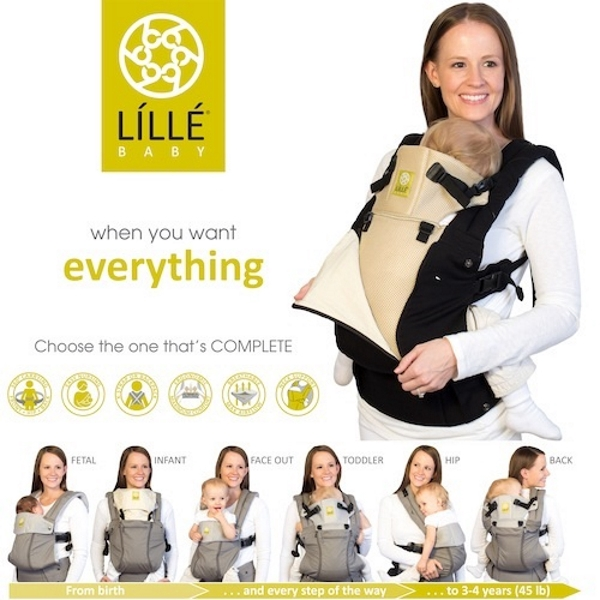 Lillebaby: Complete All Seasons Baby Carrier - Navy
