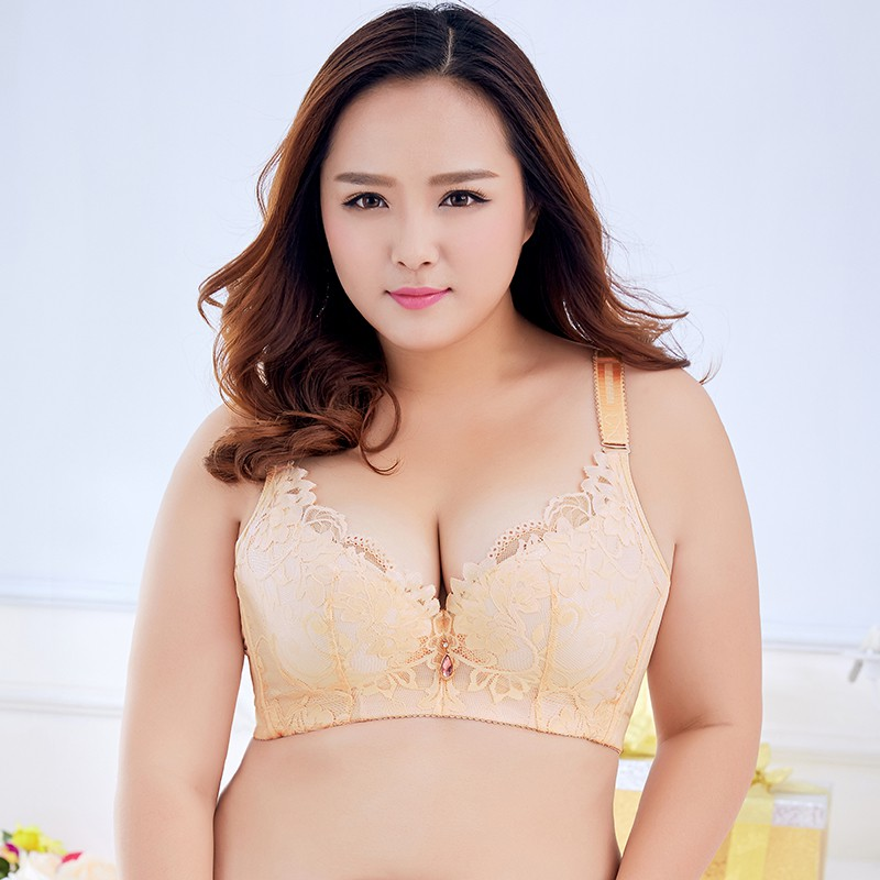 0dc360af882b0 Women Lace Bra Plus Size 3 4 Cup Push Up Bra Brassiere Padded Large Cup
