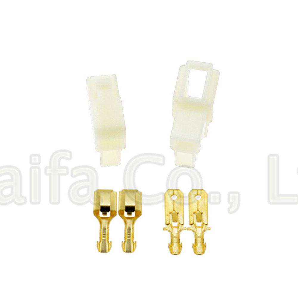 10 Sets 6.3mm 1 Pin Way Latching Car Electrical Multi Plug Connector Male Female