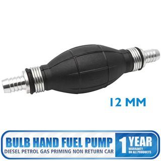 12mm Fuel Primer Bulb Hand Pump Diesel Petrol Gas Priming Non Return Valve Car