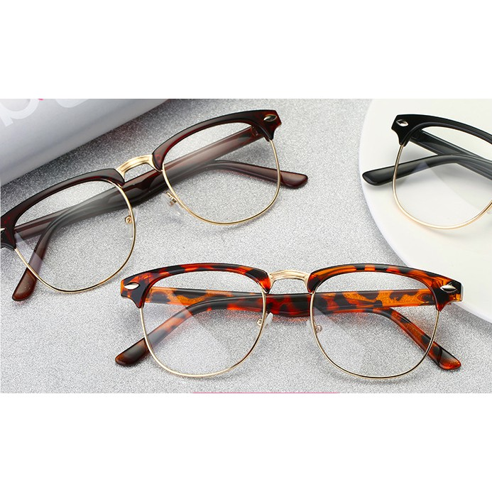 e9d430ebf2ed ProductImage. ProductImage. Men Women Retro Half Frame Optical Spectacle  Eyeglass ...